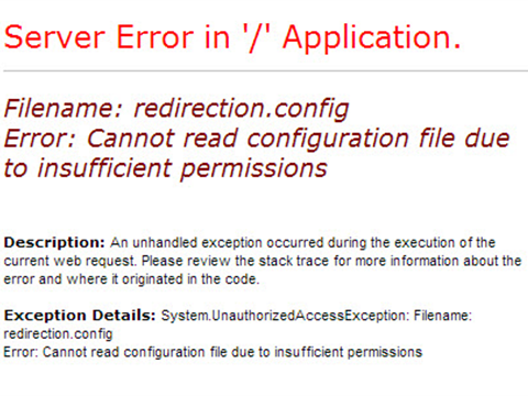 Error: Cannot read configuration file due to insufficient permissions