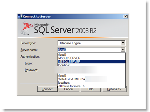 How to delete server entries (server, user names) which come in SQL Server Management Studio login screen