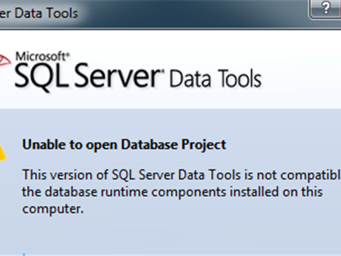 VS2012: Unable to open database project