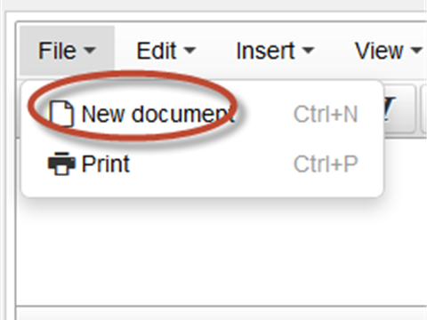 TinyMCE 4: Removing new document in file option