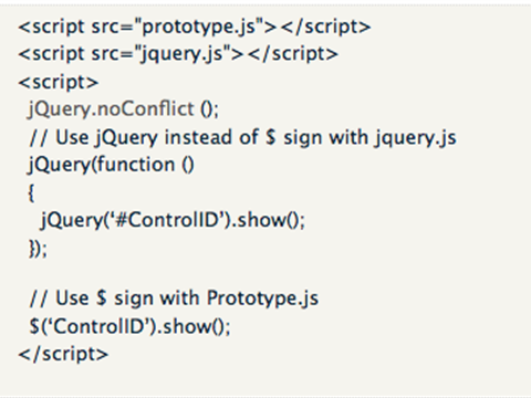 jQuery : How to avoid jquery clash with other libraries
