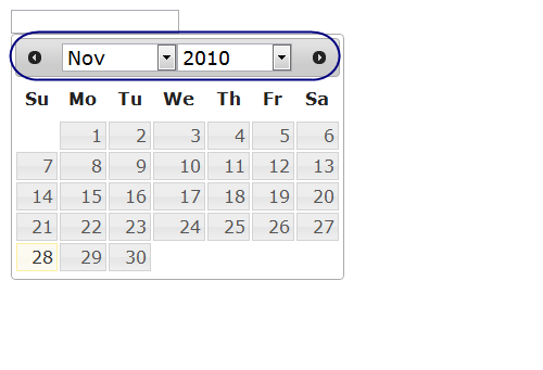 jQuery Datepicker: Show month year dropdownlists