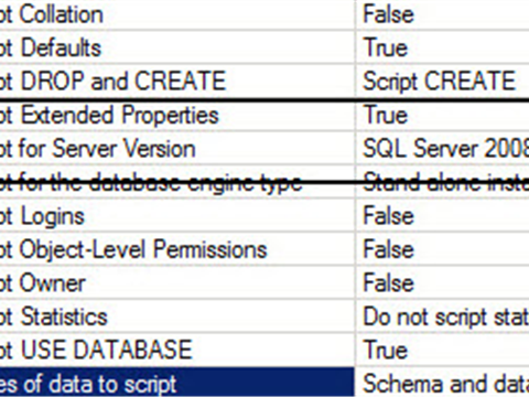 Generate SQL Server 2008 R2 compatible script from SQL Server 2012