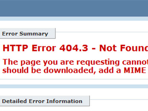 ASP.NET- MP4 -  HTTP Error 404.3 - Not Found The page you are requesting cannot be served because of the extension configuration