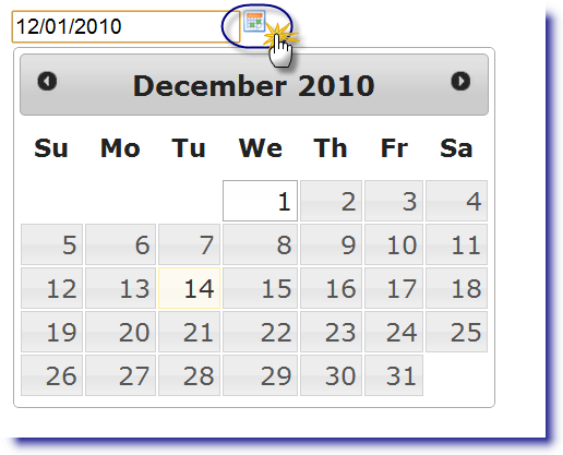 jQuery Datepicker: Display on image click