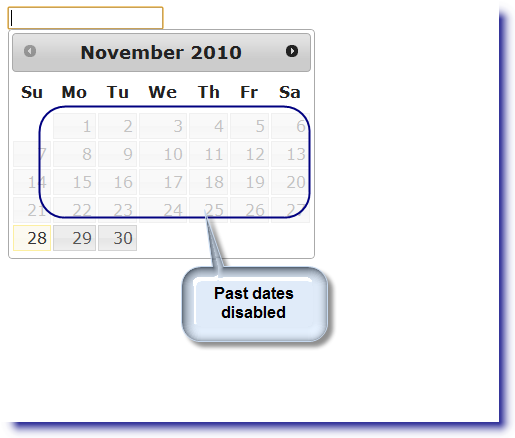 jQuery Datepicker: Disable past dates