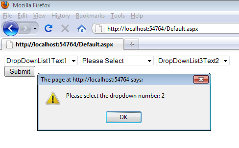 Force user to select multiple dropdownlists with jQuery