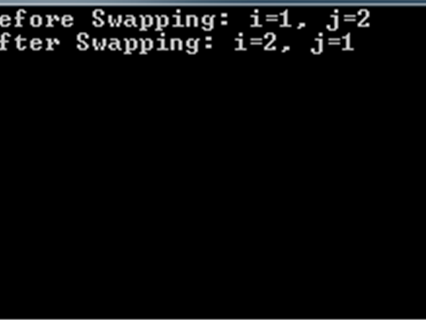 C#: Swap two integer variables value