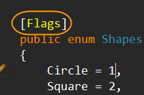 Why do we need flags attribute on enums