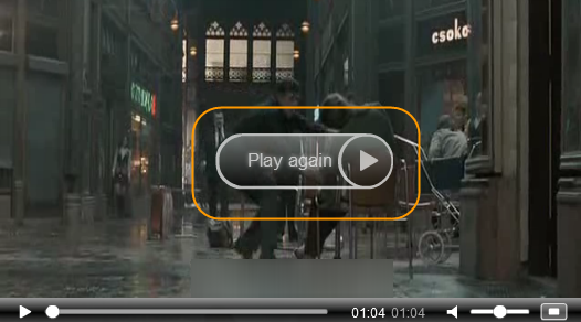 """Flowplayer: How to change the text of """"Play again"""" button"""