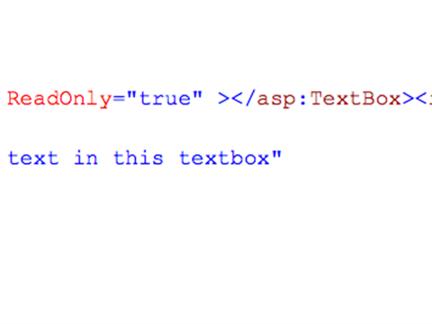 How to get readonly textbox value in codebehind file
