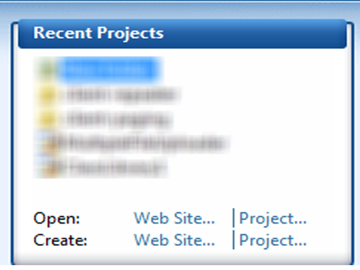 Increase the number of recently open projects in Visual Studio