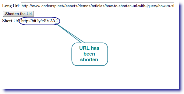 How to shorten url with jQuery   CodeAsp Net