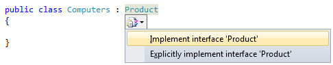 Automatically implement interfaces in VS.NET